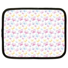 Pretty Colorful Butterflies Netbook Case (large)