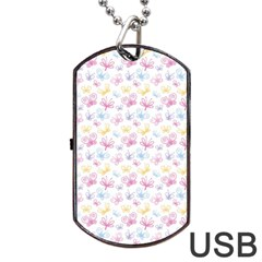 Pretty Colorful Butterflies Dog Tag Usb Flash (two Sides) by tarastyle
