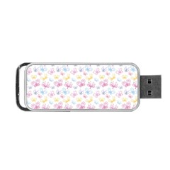 Pretty Colorful Butterflies Portable Usb Flash (one Side)