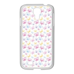 Pretty Colorful Butterflies Samsung Galaxy S4 I9500/ I9505 Case (white)