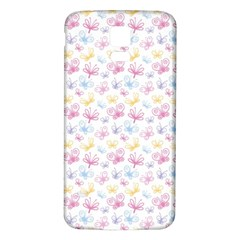 Pretty Colorful Butterflies Samsung Galaxy S5 Back Case (white) by tarastyle