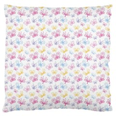 Pretty Colorful Butterflies Standard Flano Cushion Case (one Side)