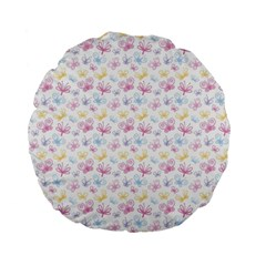 Pretty Colorful Butterflies Standard 15  Premium Flano Round Cushions