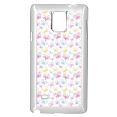 Pretty Colorful Butterflies Samsung Galaxy Note 4 Case (white)