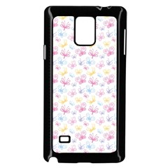 Pretty Colorful Butterflies Samsung Galaxy Note 4 Case (black)