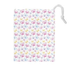 Pretty Colorful Butterflies Drawstring Pouches (extra Large)