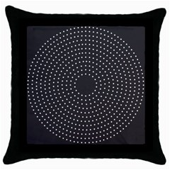 Round Stitch Scrapbook Circle Stitching Template Polka Dot Throw Pillow Case (black)