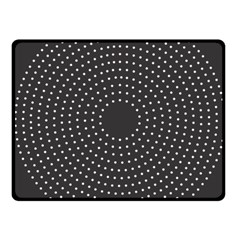 Round Stitch Scrapbook Circle Stitching Template Polka Dot Fleece Blanket (small) by Mariart