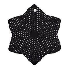 Round Stitch Scrapbook Circle Stitching Template Polka Dot Snowflake Ornament (two Sides) by Mariart