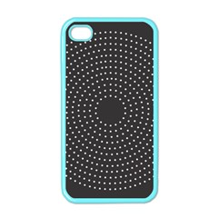 Round Stitch Scrapbook Circle Stitching Template Polka Dot Apple Iphone 4 Case (color) by Mariart