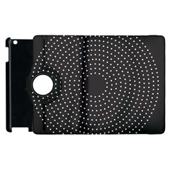 Round Stitch Scrapbook Circle Stitching Template Polka Dot Apple Ipad 3/4 Flip 360 Case by Mariart
