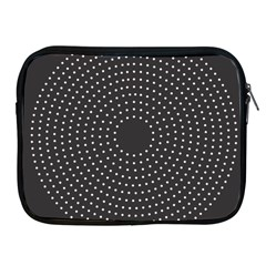 Round Stitch Scrapbook Circle Stitching Template Polka Dot Apple Ipad 2/3/4 Zipper Cases by Mariart