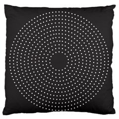 Round Stitch Scrapbook Circle Stitching Template Polka Dot Standard Flano Cushion Case (one Side) by Mariart