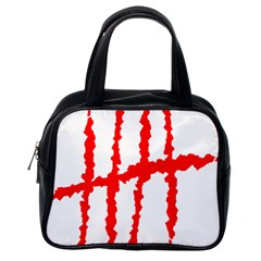 Scratches Claw Red White H Classic Handbags (one Side) by Mariart