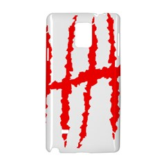 Scratches Claw Red White H Samsung Galaxy Note 4 Hardshell Case by Mariart