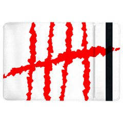 Scratches Claw Red White H Ipad Air 2 Flip