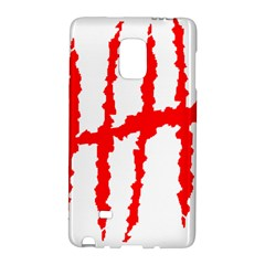 Scratches Claw Red White H Galaxy Note Edge by Mariart