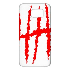 Scratches Claw Red White H Galaxy S6 by Mariart