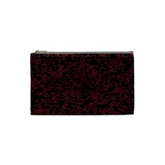 Random Red Black Cosmetic Bag (small)  by Mariart