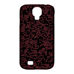 Random Red Black Samsung Galaxy S4 Classic Hardshell Case (pc+silicone) by Mariart