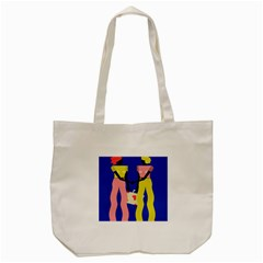 Shake Hands Tote Bag (cream) by Mariart