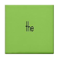 Sign Green The Tile Coasters by Mariart