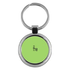Sign Green The Key Chains (round)  by Mariart