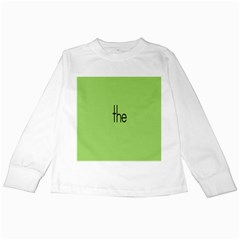 Sign Green The Kids Long Sleeve T Shirts by Mariart
