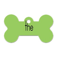 Sign Green The Dog Tag Bone (one Side) by Mariart