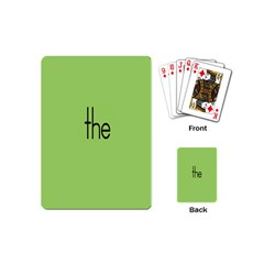 Sign Green The Playing Cards (mini)  by Mariart