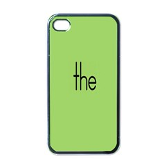 Sign Green The Apple Iphone 4 Case (black) by Mariart