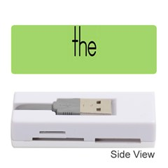 Sign Green The Memory Card Reader (stick)  by Mariart