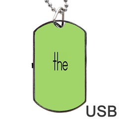 Sign Green The Dog Tag Usb Flash (one Side) by Mariart