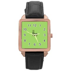 Sign Green The Rose Gold Leather Watch  by Mariart