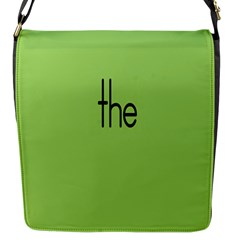 Sign Green The Flap Messenger Bag (s) by Mariart
