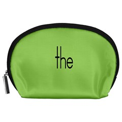 Sign Green The Accessory Pouches (large)  by Mariart