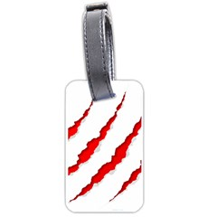 Scratches Claw Red White Luggage Tags (two Sides) by Mariart