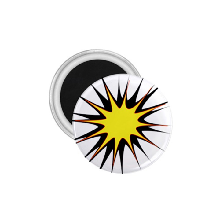 Spot Star Yellow Black White 1.75  Magnets