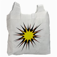 Spot Star Yellow Black White Recycle Bag (two Side)  by Mariart