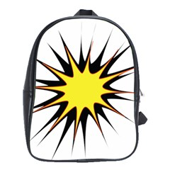 Spot Star Yellow Black White School Bags(large)