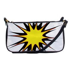 Spot Star Yellow Black White Shoulder Clutch Bags by Mariart