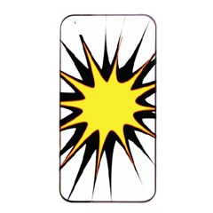 Spot Star Yellow Black White Apple Iphone 4/4s Seamless Case (black) by Mariart