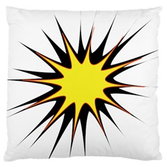 Spot Star Yellow Black White Large Cushion Case (two Sides) by Mariart