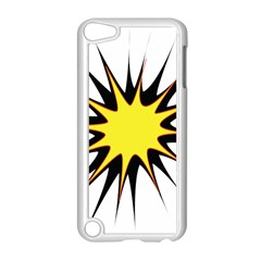 Spot Star Yellow Black White Apple Ipod Touch 5 Case (white) by Mariart