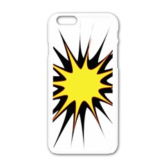 Spot Star Yellow Black White Apple Iphone 6/6s White Enamel Case by Mariart