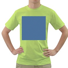 Striped  Line Blue Green T Shirt by Mariart