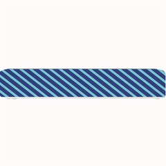 Striped  Line Blue Small Bar Mats by Mariart