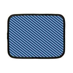 Striped  Line Blue Netbook Case (small)  by Mariart