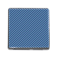 Striped  Line Blue Memory Card Reader (square) by Mariart