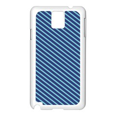 Striped  Line Blue Samsung Galaxy Note 3 N9005 Case (white) by Mariart